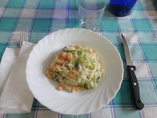 Risotto alle zucchine e gamberetti