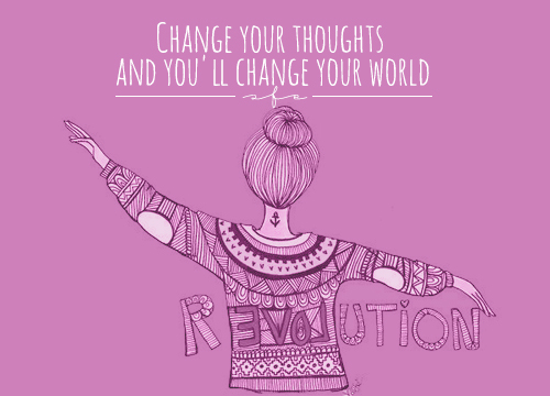 "GOOD INTENTIONS #2 ""CHANGE YOUR THOUGHTS AND YOU'LL CHANGE YOUR WORLD"""